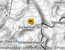 Map: Zuckerhütl / Pan di Zucchero