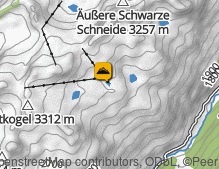 Map: Sölden Gletscher / Ghiacciai Sölden