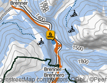 Map: Brennersee / Lago Brennersee