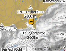 Map: Lizumer Reckner / Lizumer Reckner