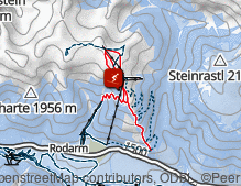 Map: Skigebiet Golzentipp - Obertilliach / Area sciistica Golzentipp - Obertilliach