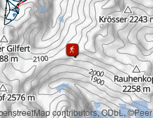 Map: Zur Rastkogel-Hütte in den Tuxer Alpen